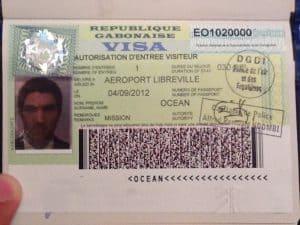 Gabon Turistik Vize Örneği