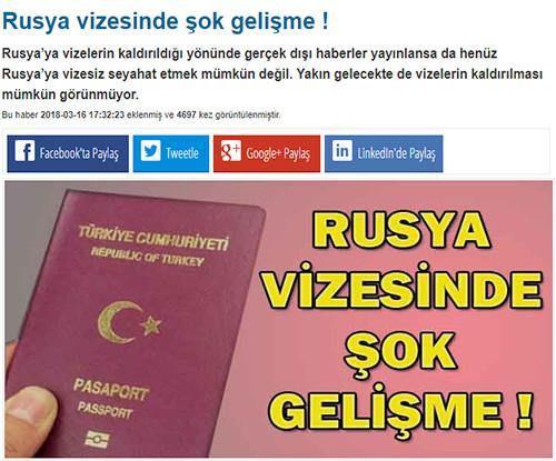 Rusya vizesinde şok gelişme