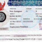 Tayland Çalışma Vizesi Örneği