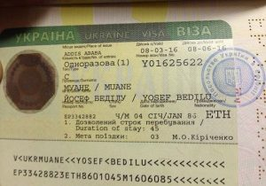Ukrayna Çalışma Vizesi Örneği