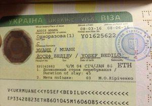 Ukrayna Öğrenci Vizesi Örneği